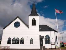 Noorse Kerk bij de Baai van Cardiff royalty-vrije stock afbeelding