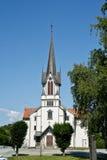 Noorse kerk, poort Stock Foto