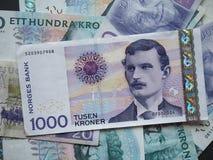 1000 Noorse Kroonnok nota Royalty-vrije Stock Foto's