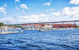 Noorse landschappen Stavanger Stock Afbeelding
