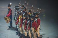 Noorse Militaire Tatoegering 8 Mei 2014 Stock Foto