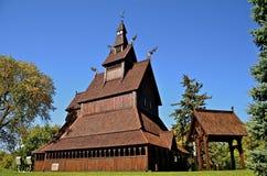 Noorse ontworpen staafkerk Stock Fotografie