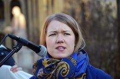 Noorse politicus Une Aina Bastholm (Mdg) Stock Afbeelding