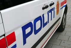 Noorse politiewagen Stock Afbeelding