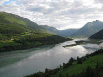 Noorse rivier stock afbeeldingen