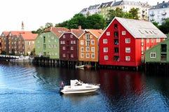 Noorse stad Royalty-vrije Stock Foto's