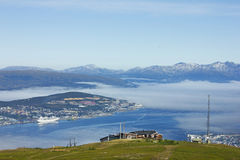 Noorse stad Tromso Royalty-vrije Stock Foto