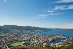 Noorse stad van Bergen. Royalty-vrije Stock Fotografie