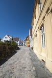 Noorse straat Stock Afbeelding