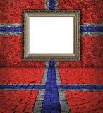 Noorse vlagstijl. Elegant frame op de muur Royalty-vrije Stock Fotografie