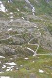 Noorse weg Stock Foto's