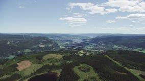 Noorse Zuidenstad Lillehammer stock footage