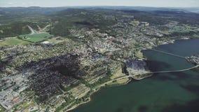 Noorse Zuidenstad Lillehammer stock videobeelden