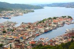 Noorwegen. Bergen. Royalty-vrije Stock Afbeelding