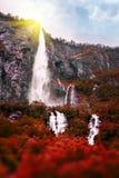 Noorwegen in daling De waterval van Bridalveil Stock Foto