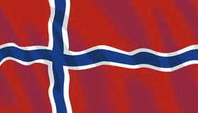 Noorwegen dat nationale vlag golft stock illustratie