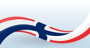 Noorwegen dat nationale vlag golft Moderne ongebruikelijke vorm Ontwerpsjabloon voor decoratie van vlieger en kaart, affiche, ban vector illustratie