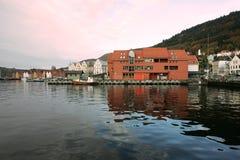 Noorwegen. De haven van Bergen Royalty-vrije Stock Foto