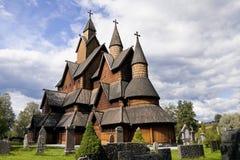 Noorwegen. De Kerk van de Staaf van Heddal royalty-vrije stock foto