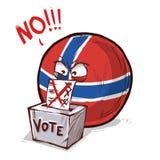Noorwegen die over nr stemmen vector illustratie