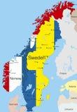 Noorwegen en Zweden stock illustratie