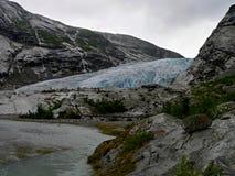 Noorwegen-gletsjer Nigardsbreen Stock Foto's