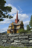 Noorwegen, kerk Stock Foto's