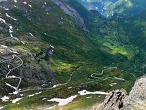 Noorwegen-mening van Dalsniba aan Geirangerfjorden Stock Foto's
