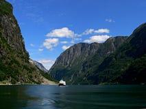 Noorwegen-Naeroyfjorden Royalty-vrije Stock Afbeelding