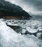 Noorwegen tijdens de winter stock afbeeldingen