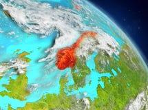 Noorwegen van baan stock illustratie