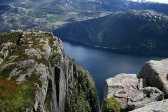 Noorwegen, van Preikestolen stock afbeelding