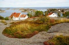 Noorwegen, vilage door fjord Kragero, Portor Stock Afbeeldingen