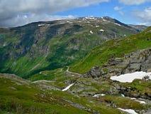 Noorwegen-weg van Dalniba aan Geiranger Stock Foto