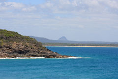 Noosa beach and headlands Royalty Free Stock Photo