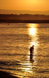 Noosa dirige le coucher du soleil - Queensland, Australie Photos libres de droits