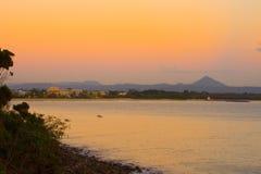 Noosa Gemeinde, Australien am Sonnenaufgang stockfotografie
