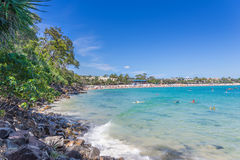 Noosa Heads Beach. In Queensland stock photography