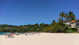 Noosa Heads Beach. Resort on the Queensland coast royalty free stock photography