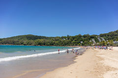 Noosa Heads Beach. Resort on the Queensland coast royalty free stock images