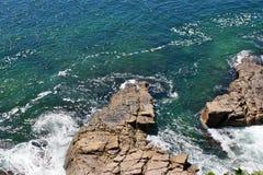 Noosa National Park. Beautiful landscape beach with rocky, Noosa Heads, Sunshine Coast, Australia stock photography