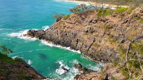 Noosa nationalpark på solskenkusten, Queensland, Australien royaltyfria foton