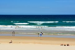 Peregian Beach south of Noosa, QLD. Noosa, Queensland, Australia - December 20, 2017. View of Peregian Beach south of Noosa, QLD stock image