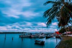 Noosa River Sunset royalty free stock image