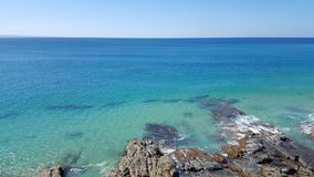 Noosa Rocky Beach. Front, view of sea Stock Photos