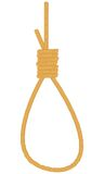 Noose. On a white background. Vector illustration Royalty Free Stock Photo