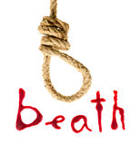 Noose and bloody letters Stock Image
