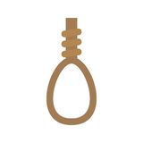 Noose. Cowboy, wild, noose icon vector image. Can also be used for wild west. Suitable for mobile apps, web apps and print media Stock Images