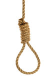 Noose Over White Background Stock Photos
