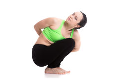 Noose yoga Pose Royalty Free Stock Images